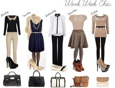 """Work Week Chic."" by kkvossler on Polyvore"