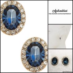 """❗️1-HOUR SALE❗️STUD EARRINGS Crystal & CZ Pave 💟NEW WITH TAGS💟   JUDITH JACK EARRINGS Crystal & CZ Pave Stone Oval Blue Stud Earrings  * Bezel set faceted oval blue stone earrings.   * CZ cubic Zirconia w/ pave trim   * Each earring measures about 0.5"""" long  * Post Back # Pastel deep turquoise blue statement dainty delicate Material: Sterling Silver, Crystal, Cubic Zirconia Item: Color: Blue & Silver  🚫No Trades🚫 ✅ Offers Considered*/Bundle Discounts✅ *Please use the 'offer' button to…"""