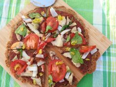 Protein Packed Pizza {Vegan & GF} This crust is made with lentil flour! Check it out!