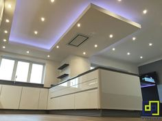 ceiling lighting feature in kitchen