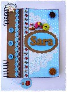 Livro de Receitas - Tamanho A5  Cookbook - Size A5  http://arteseretalhos.blogs.sapo.pt/