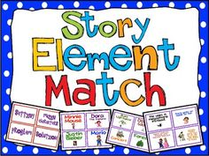Story Elements Match Up FREE for Main Idea, Story Elements