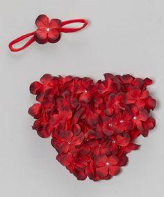 Red Hydrangea Bloomers & Headband - Infant