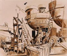 ART & ARTISTS: Thomas Hart Benton - part 4 WWII Submarine Museum, American Realism, Grant Wood, Social Realism, Z Arts, Printmaking, Wwii, Illustrators, Oil On Canvas