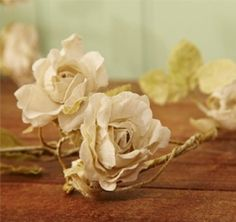 Shabby WEDDING Chic ROSE Flower GARLAND Vintage Cream