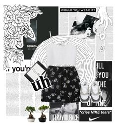 """- I'm queen of the clouds, make my wish come true I sing to the night, let me sing to you -"" by thaniahjcat ❤ liked on Polyvore featuring Monki, NIKE and Mulberry"