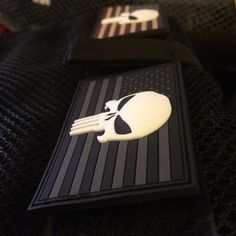 Glow In The Dark Punisher Skull & American Flag Patch