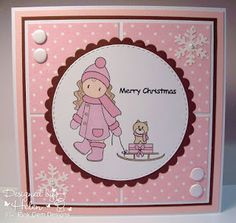 GDT card for the Unicorn Challenge Blog using 'Chloe With Sledge' from Pink Gem Designs