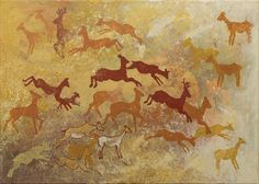 Running deer by BienekArt on Etsy