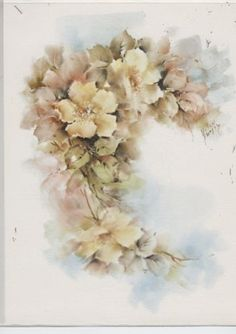 Yellow Wild Roses by Helen Humes China Painting Study | eBay