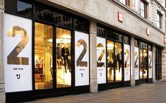 Uniqlo +J | Branch #jilsander #fashion #retail #uniqlo #design #windows #vinyl #print #countdown