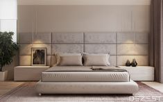 Contemporary Neutral Homes That Don't Need Bold Color To Wow (Interior Design Ideas) Master Bedroom Interior, Modern Master Bedroom, Modern Bedroom Design, Master Bedroom Design, Home Decor Bedroom, Bedroom Ideas, Futuristisches Design, Interior Design, Bed Furniture