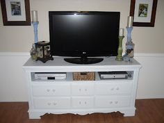 {Craftify It}: Dresser to TV Stand Tutorial