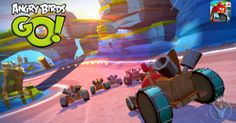 'Angry Birds Go' Downhill Racer Is Coming Dec. Angry Birds Stella, Gaming Banner, Splash Screen, 3d Cartoon, Free Games, Game Art, Android, Racing, Hero