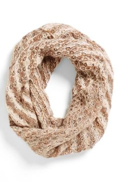 BP. Striped Knit Infinity Scarf (Juniors) available at #Nordstrom