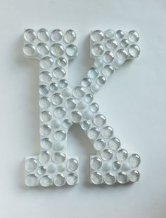 Mosaic Letter  White Bubble Pick your letter by MollycatMosaics, $35.00