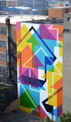 by Above (on the roof) in Johannesburg, SAfrica, 10/15 (LP) #streetart