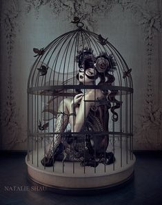 fantasy photo manipulations by Natalie Shau Dark Gothic Art, Dark Fantasy Art, Ange Demon, Goth Art, Creepy Art, Bird Cages, Pop Surrealism, Horror Art, Surreal Art