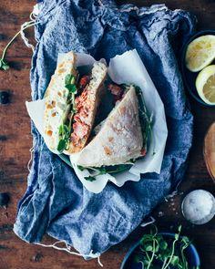 Salmon Sandwiches with Pea Sprouts + Lemon-Dill Aioli. Spring Salmon ...