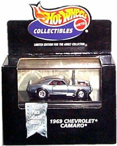 Hot Wheels Collectibles - Limited Edition Cool Collectibles - 1969 Chevrolet Camaro (SS) - Chrome Body Color - Mounted in Collector's Display Case by Mattel, Inc.. $39.99