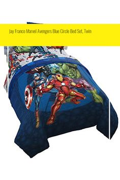 Jay Franco Marvel Avengers Blue Circle Bed Set, Twin Circle Bed, Marvel Avengers, Bedding Sets, Twins, Blue, Bed Linens, Bed Linen, Twin, Comforter Sets