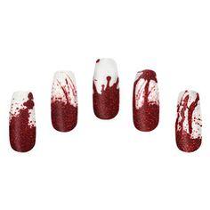 ThinkGeek :: Blood Spatter Nail Wraps