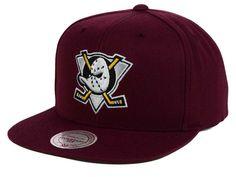 promo code 4829c 2ff0d Anaheim Ducks Mitchell and Ness NHL Wool Solid Snapback Cap Anaheim Ducks  Hat, Snapback Cap