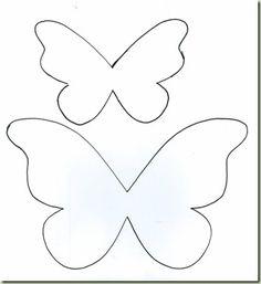 mariposa Butterfly Decorations, Butterfly Crafts, Mariposa Butterfly, Butterfly Mobile, Butterfly Template, Flower Template, Crown Template, Heart Template, Butterfly Garden Party