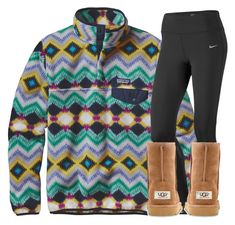 """""""guys rtd"""" by katie-1111 ❤ liked on Polyvore featuring Patagonia, NIKE and UGG Australia"""