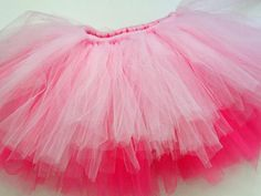 How To Make a Classic Tulle Tutu: Repeat until you have made it all around the waistband and your entire first-tier tulle color is covered up. From DIYnetwork.com