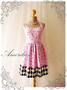 Music Lover - Pink Dress Music Note Summer Retro Party Cocktail Bridesmaid Birthday Concert Anniversary Event All Party Every Day Dress - $46.50