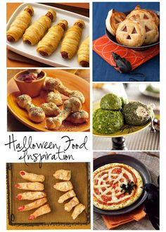 Spooky Food Ideas ~  Entertaining | Inspiration    I am in the process of planning the menu for our kid-friendly Halloween bash on Sunday. Here are a few last minute ideas to make your party spooktacular (I know, a bit cheesy)!