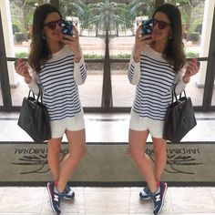 Short Teti Gio | Trico Le lis Blanc | Tenis New Balance | Bolsa Fendi