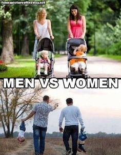 Men Vs Women....A Walk With The Kids