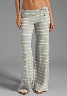 YOUNG, FABULOUS & BROKE Wide Leg Pant in Heather