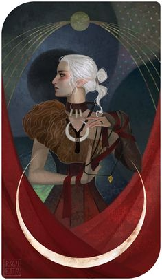 C: Shill (Dragon Age Inquisition Tarot — The Priestess) by Ravietta.deviantart.com on @DeviantArt