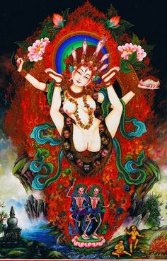 English: She Who Possesses the Skills of Great Bliss | Sanskrit: Yogini Mahasukhasiddhi | Tibetan: Naljorma Dewa Ngodrub Chenpo