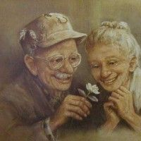 Load image into Gallery viewer, DIY Diamond Painting Old Couple Full Square Rhinestone Portrait Diamond Embroidery Vieux Couples, Old Couples, Serge Reggiani, Growing Old Together, Ecole Art, 5d Diamond Painting, Cross Paintings, Secret Obsession, Oeuvre D'art