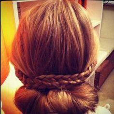 braid  low bun