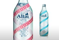 Altai Mineral Water (Concept) on Packaging of the World - Creative Package Design Gallery Food Packaging Design, Beverage Packaging, Packaging Design Inspiration, Brand Packaging, Mineral Water Brands, Vodka Bottle, Water Bottle, Bottled Water, Agua Mineral