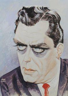 D R E W • F R I E D M A N: The Caricature Art of John Johns.  Raymond Burr