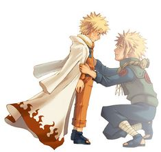 Naruto and Minato. <3