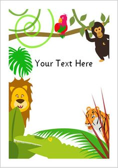 Here is some jungle-themed notepaper that could be used to make mats for station activities.