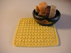 Quick and Easy Crochet Dishcloth Pattern. When I taught myself to crochet again, this is the pattern I learned with and have been making these great dish clothes ever since.