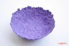 Paper Mache Bowls - make from egg carton pulp