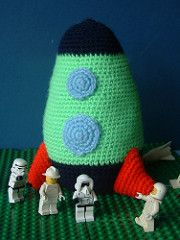 Crochet an Airplane, Helicopter, Rocket ship – 14 free patterns – Grandmother's Pattern Book