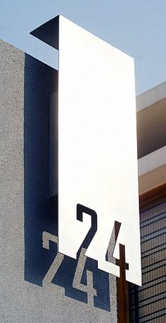 Villa number plates