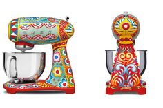 Italian fashion designers Dolce & Gabbana and luxury appliance company Smeg have unveiled a special vibrant kitchenware collection at Salone del Mobile, Milan's prestigious furniture fair.