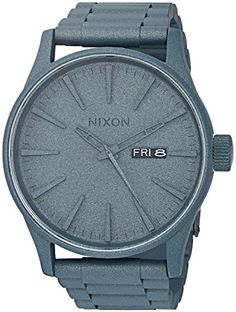 Nixon Men's Sentry SS Watch in Blue Cerakote One Size -- Continue to the product at the image link.