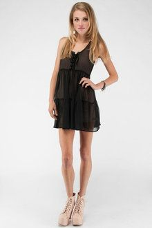 Audrey 3+1 Babydoll Lace Up Dress | NWOT (I think without?) | Small | Only the  overlay |